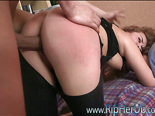 Cutie feels hard pecker drilling her magic mouth and anal aperture