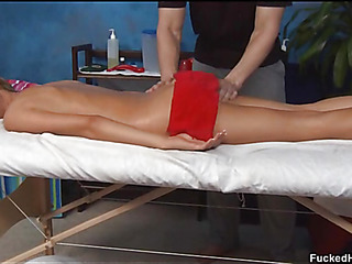 Cute 18 year old oriental gal receives drilled hard by her massage therapist