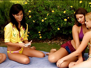 Stare at three so hawt and naughty lesbo gals licking well