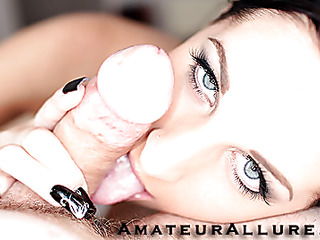 Racquel is a gorgeous twenty year old black brown, with all natural whoppers and a tiny shaved cookie.  This Babe is a total dong engulfing freak, that can't appear to be to receive sufficiently cum in her mouth. When u watch what this babe does to my dick u will understand. That Babe rode my penis like a pro and then I flipped her over and stretched her muff good. We had a banging precious time and that babe drank a sticky load.