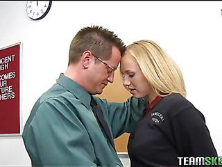 Schoolgirl gets a stormy hardcore fuck from her teacher