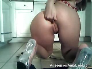Cute girlie next door is performing unforgettable oral-sex