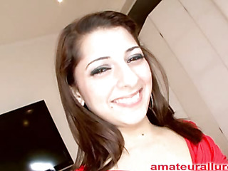Gorgeous and energetic Abby blows wang and gets her face fucked solely to be bent over and acquire her love tunnel pounded until she is gratified then that playgirl gets a biggest cum facial to go with her big smile.