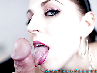 Racquel is a maid that breaks a vase and is in some serious trouble. that babe have to engulf and fuck her boss so his wife won't find out and fire her. This Chick gives him a very wet and messy oral-job stimulation and that babe unfathomable face holes his jock like a pro. This Guy copulates her taut bald vagina as that babe moans wildly whilst her large milk cans are bouncing.