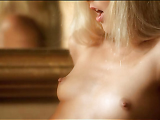 Sweetheart is demonstrating delights and touching fresh soaked gap