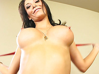 Malezia has a charming heart shaped arse that just looks great when u're fucking her from behind.  Those firm buttocks are heaven to look at as that babe lowers her pussy onto a expecting dong.  Those horny Latin slut takes a large load of cum on her milk sacks and taut tummy.