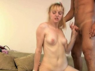 Hawt darling is giving man a soaked oral-stimulation in advance of riding it