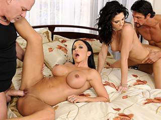 Hawt women have a fun sharing their slutty husbands jocks for fun !