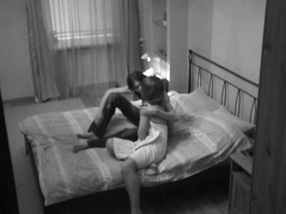 Webcam lens captures a sexy sex in the bedroom with a wicked lady