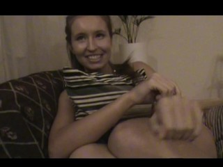 Nasty teen lady assents to endure sex by the table with pleasure