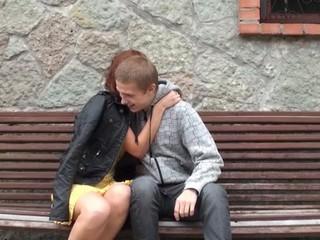 Seductive lascivious teen endures bareback action with her fuckmate
