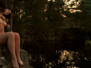 Find out a ardent legal age teenager fucking scene outdoors during sunset