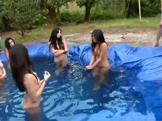 Huge strao-ons are used to pleasure hawt lesbos