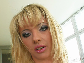 Deepthroating and hard sex are exactly the things that this little blond slut needed. This Babe receives absolutely destoryed before swallowing a large load of goo.