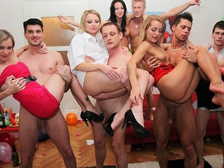 Even good and decent angels turn into sexy college sluts at student sex parties! Watch what they're capable of!