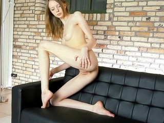 Chick takes off clothes and underware showing all of delights